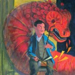 dragon, instrument, Music, old man, and erhu