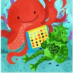 octopus, underwater, board game, creature, sea monster, and fish