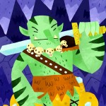 orc, monster, treasure, cave, and sword