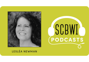 Lesléa Newman SCBWI Podcast Graphic