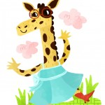 giraffe, Glasses, dress, and cowboy boots
