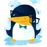 Penguin, bowtie, and Glasses