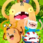 Adventure Time Candy Capers, Adventure, Time, candy, Capers, comic, cover, Comic book, bear, monster, forest, beast, Peppermint, Cinnamon Bun, and Dog