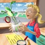 earth science, #animal, frog, escape, and classroom