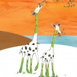 giraffe and asparagus