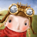 heidi, alps, mountains, village, valley, steampunk, scarf, and goggles