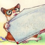 Hamster, Animal, anthropomorphic, envelope, and mail