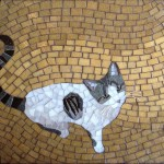cat, kitty, glass, and mosaic