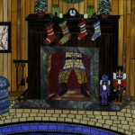 christmas, Holiday, Santa Claus, santa, and fireplace