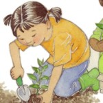 Preschool, kindergarten, nature lesson, Gardening, and children