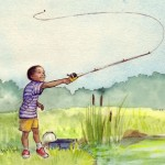 boy, fishing, ethnic, and African American