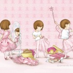 pink, pretty in pink, girl, and children's illustration