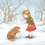 lucy, narnia, beaver, and children's illustration