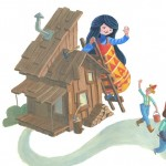 snow white and the seven dwarfs, Folktale, snow white, Dwarf, and log cabin