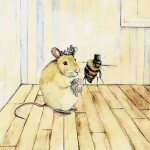 bee, Mouse, nursery rhyme, bees, cat, and fiddle