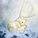 Mouse, teacup, ship, storm, ocean, Sailing, and vessel