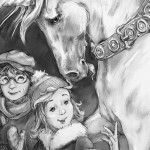 chapter book, unicorn, and children