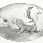 picture book, skunk, and snail