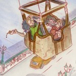 Adventure, Family, London, hot air balloon, Grandmother, travel, and children's book