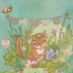 Nature, chipmunk, Garden, bee, cup, and miniature
