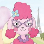 pink poodle, poodle, Animal, photoshop, Paris, cute, pastel, for girls, Dog, ice cream, sweet, and pretty in pink