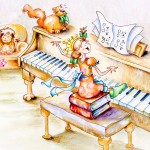 Music, piano practice, Singing, and music lessons