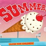 summer, ice cream, and promotional