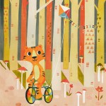 Animal, Fall, forest, tree, Tiger, birds, kite, and Activity