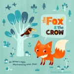 fox, crow, vector, Cover Illustration, cover, Animal, and bird
