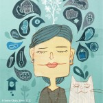 Meditation, people, cat, Animal, face, expression, and woman