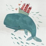whale, Animal, fish, Boat, carrying, sailboat, character, Swimming, and texture