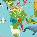 Animal, world, Map, Animals, maps, global, continents, ocean, sea life, Mammals, reptiles, amphibians, and nature