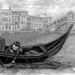 sailing on the Grand Canal in Venice, Boat, gondola, Sailing, Venice, and Bridges