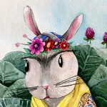 rabbit, Bunny, cabbages, vegetables, Animal, frida kahlo, and frida