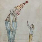 clown, Circus, whimsical, and Watercolor