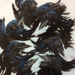 The Seven Ravens, Fairy Tale, Fairy tales, Grimm Brothers, Grimms Tales, Grimm Tales, raven, Corvid, crow, Blackbird, bird, birds, Nature, flight, water, and brothers
