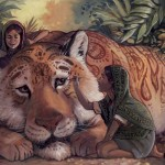 tigers, India, Girls, henna, painting, Fantasy, and Animals
