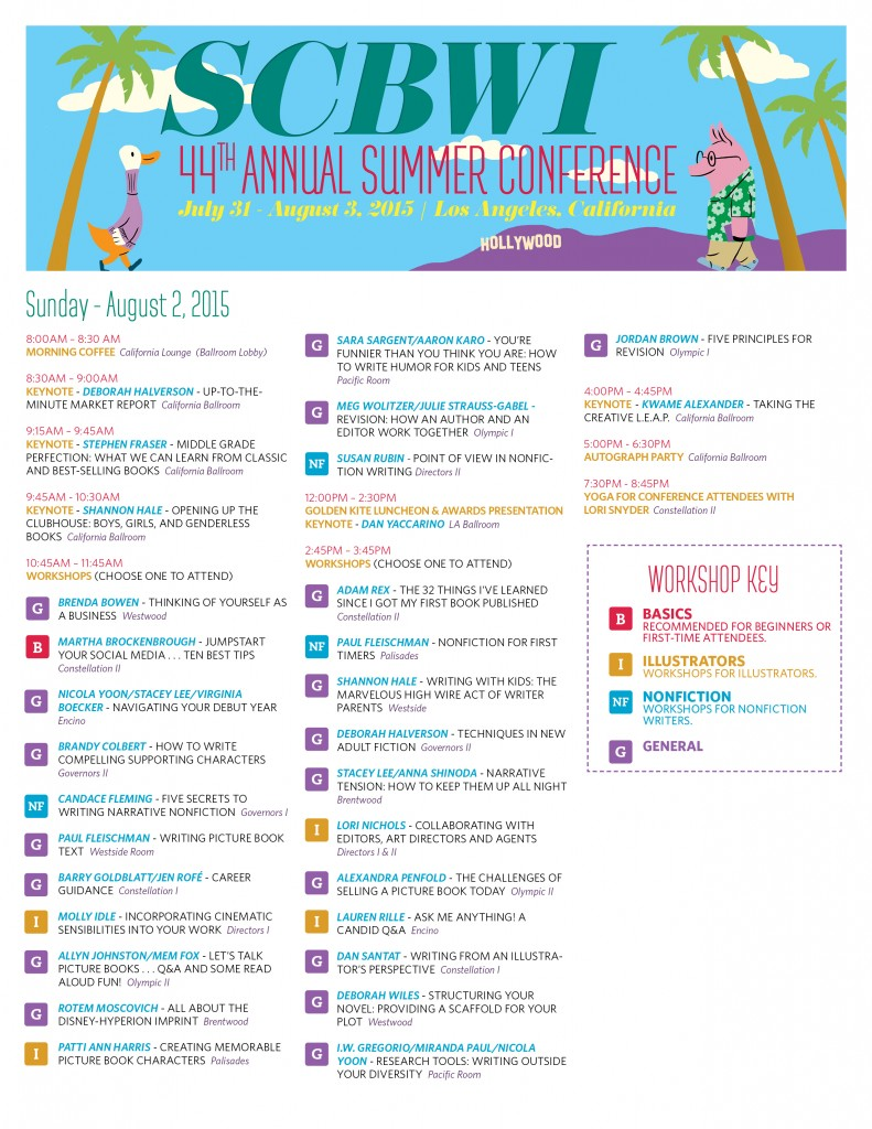 2015 Summer Conf Schedule sunday