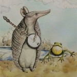armadillo, frog, Music, banjo, and Fairy Tale