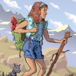 dorothy, wizard of oz, hiking, Classic book, and Dog