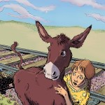 Ruby and Maude cover art, donkey, and girl