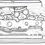 Food, and coloring page