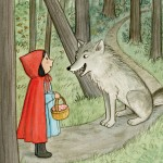 Little Red Riding Hood, wolf, forest, and Fairy Tale