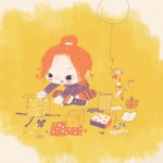 girl, birthday, color palette, cute, and children book sample
