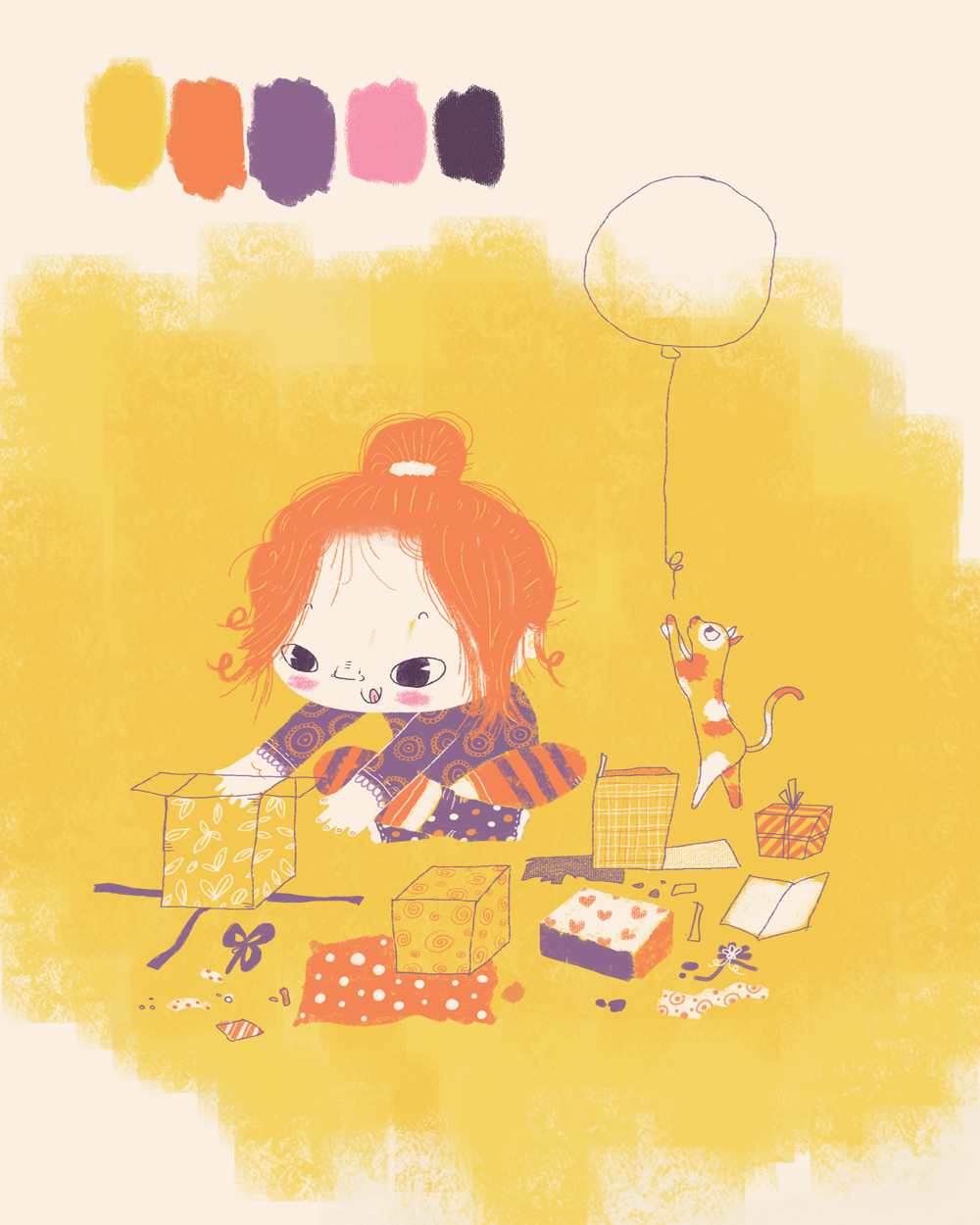 Book color illustrator - Add To Favorites Girl Birthday Color Palette Cute And Children Book Sample