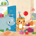 children book, Activity Book, tiger's big day, Animals, birthday, and cute