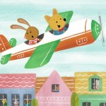 airplane, flying squirrel, Dog, and cat