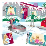Barbie, licensed character, winter, Friends, Snow, Holiday, christmas, Nature, sports, children, Family, sisters, snowmobile, ski, and party