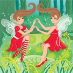 Girls, fairy, Fantasy, Nature, Fairy Tale, children, and twins