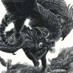 Dragons, Fantasy, The Dragon Prince, and Scratchboard
